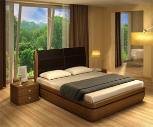 Кровать Торис Тау-классик L1 (Лило) кожа