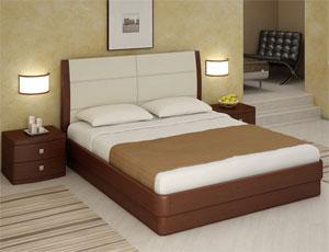 Кровать Торис Юма L1 (Лило) кожа