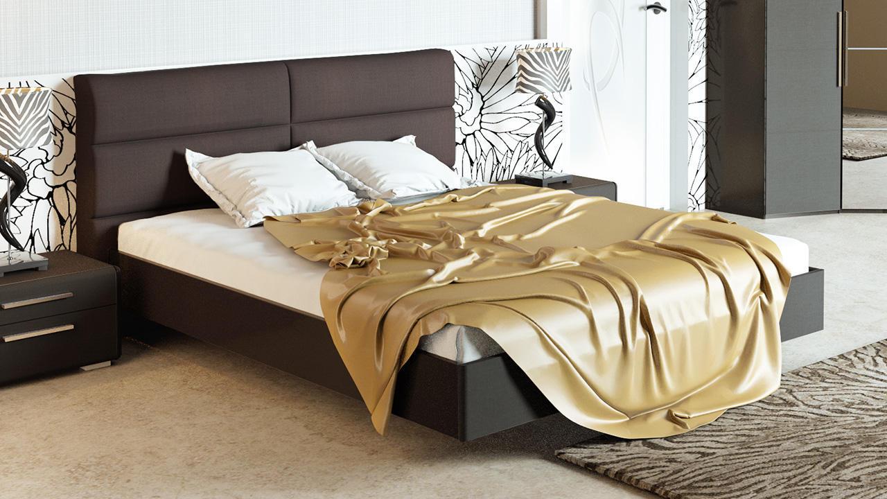 Кровать ТриЯ Наоми с мягкой спинкой, СМ-208.01.03 (160)