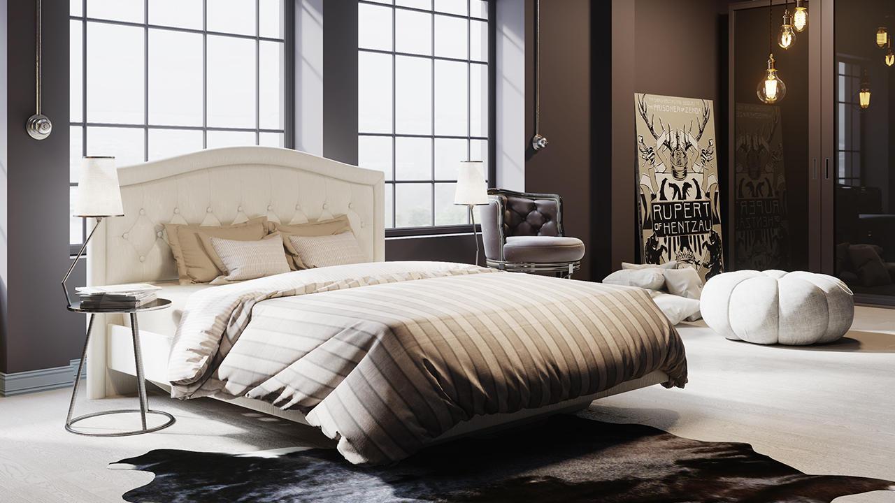 Кровать ТриЯ Адель с мягкой спинкой, СМ-300.01.11(1)