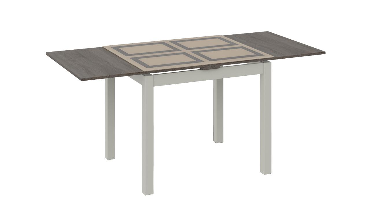 Стол обеденный ТриЯ Мельбурн раздвижной со стеклом, арт. СМ (Б)-100.05.12(1)