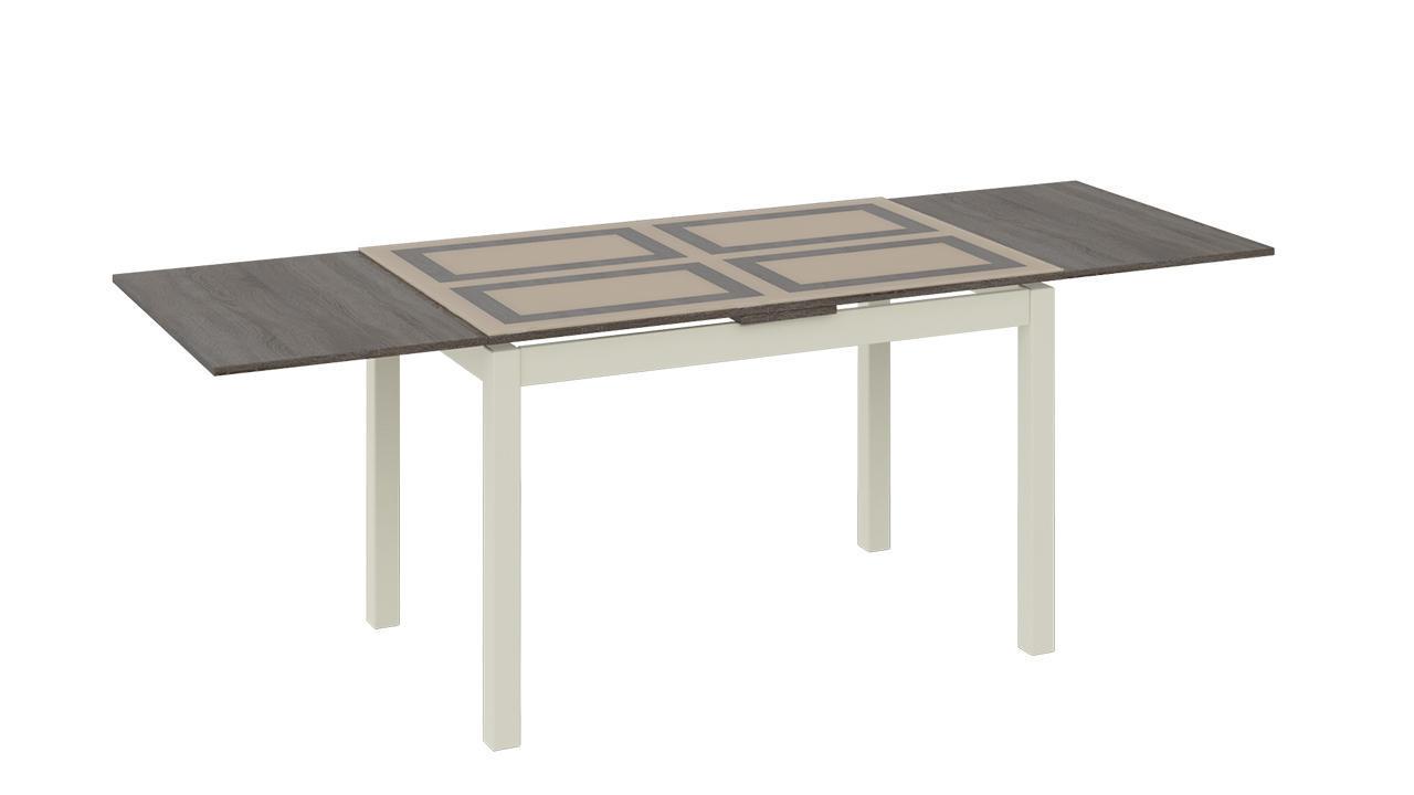 Стол обеденный ТриЯ Мельбурн раздвижной со стеклом, арт. СМ (Б)-100.11.12(1)