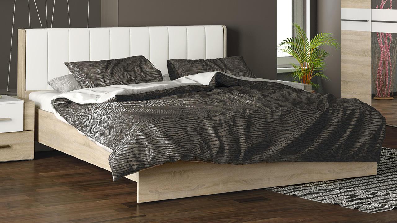 Кровать ТриЯ Ларго с мягким изголовьем, СМ-181.01.002 (160)