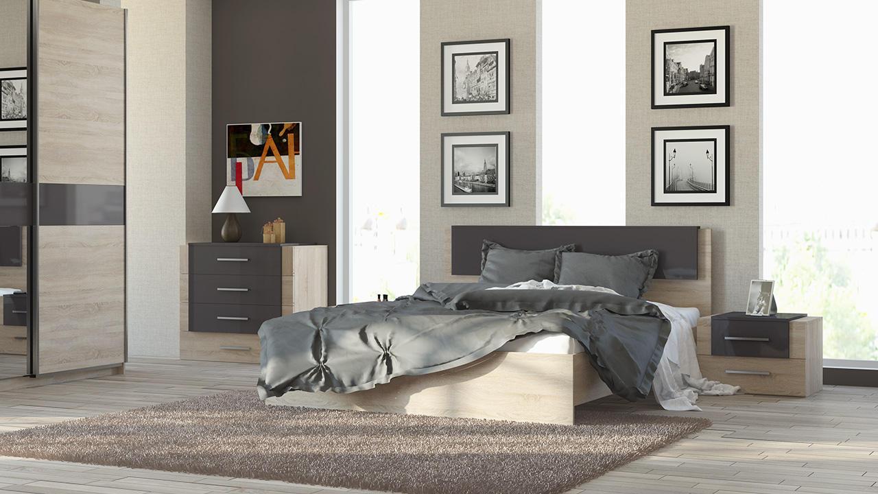 Кровать ТриЯ Ларго СМ-181.01.001 (160) какао глянец