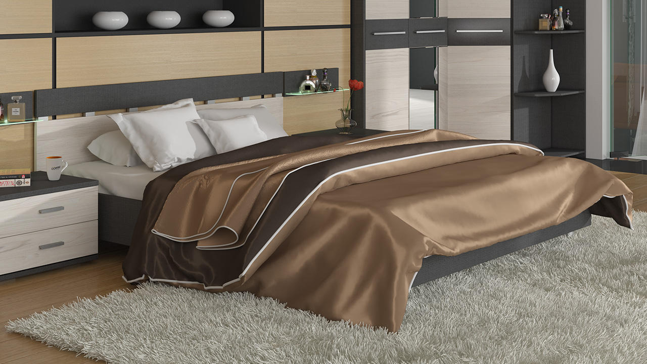 Кровать ТриЯ Сити, СМ-194.01.001 (160)