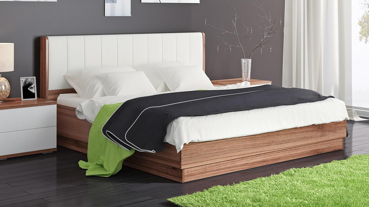 Кровать ТриЯ Рио подъемная с мягкой спинкой, ПМ-149.12 (160)