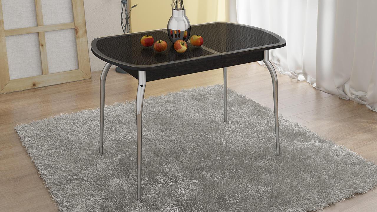Стол обеденный ТриЯ Ницца с хромированными ножками, арт. СМ-217.01.1