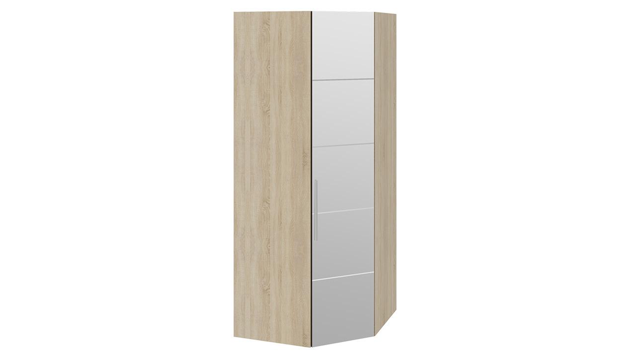 Шкаф ТриЯ Ларго Люкс угловой для одежды с зеркальной дверью правый, СМ-181.07.014 R