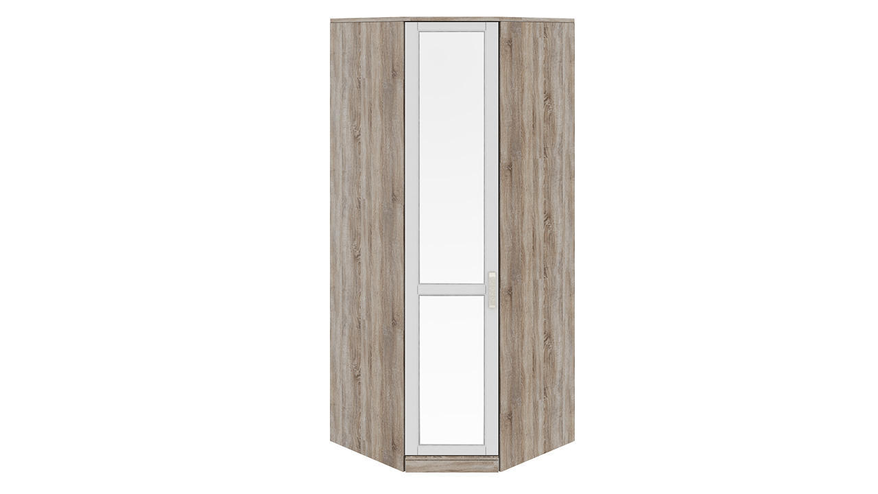 Шкаф ТриЯ Прованс угловой с 1-ой зеркальной дверью левый, СМ-223.07.007L