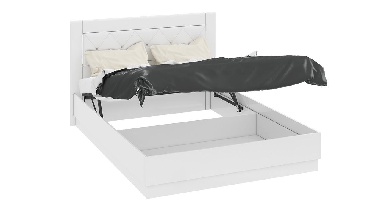 Кровать ТриЯ Амели с подъемным механизмом и мягкой спинкой со стразами, СМ-193.02.002 (140)