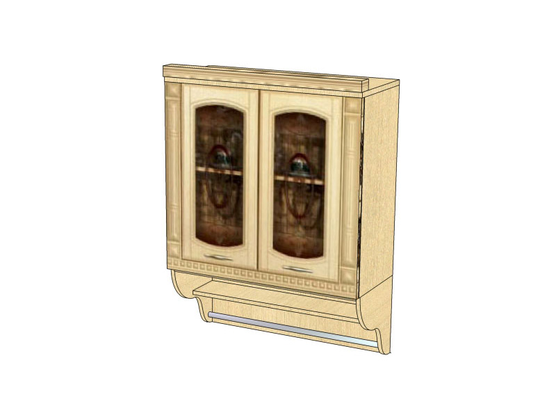 Шкаф витрина с колоннами Витра Глория, 03.11