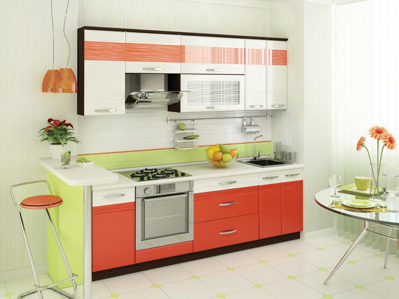 Кухня Витра Оранж 9 (240)