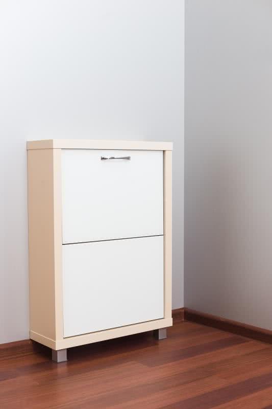 Шкаф обувной Люкс белое стекло 2с