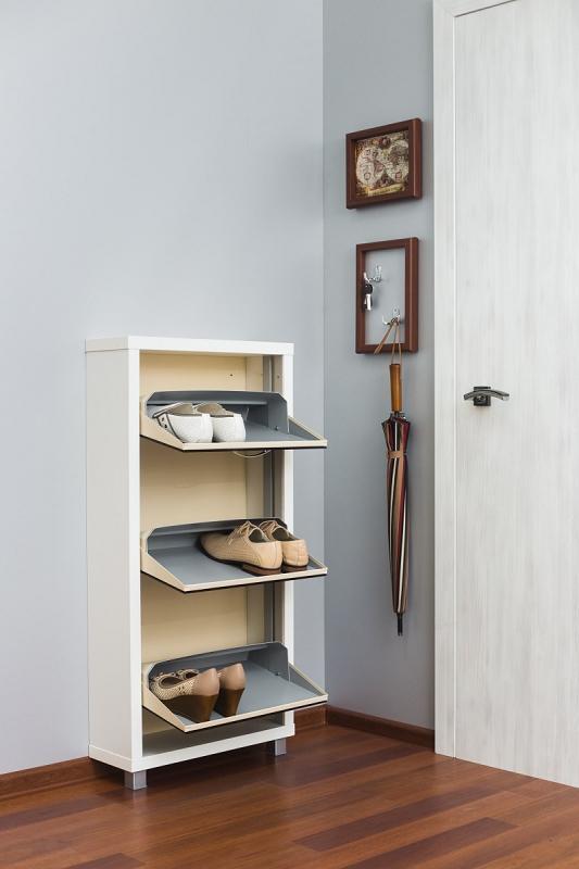 Шкаф обувной Люкс черное стекло 3с