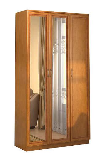 Шкаф для белья Гарун 106 с двумя зеркалами