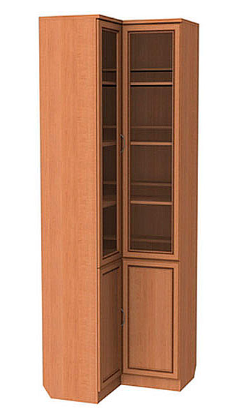 Высокие угловые книжные шкафы цвета венге уют сервис mebhome.