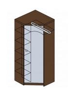Шкаф угловой с зеркалом Заречье Модена, мод. М14