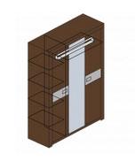 Шкаф для одежды (вставка стекло) Заречье Модена, мод. М8