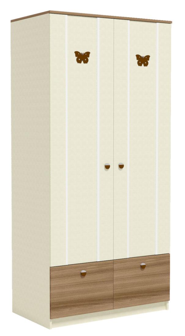 Шкаф для одежды (2 полки, штанга, ящик) Заречье Юниор, мод Ю5