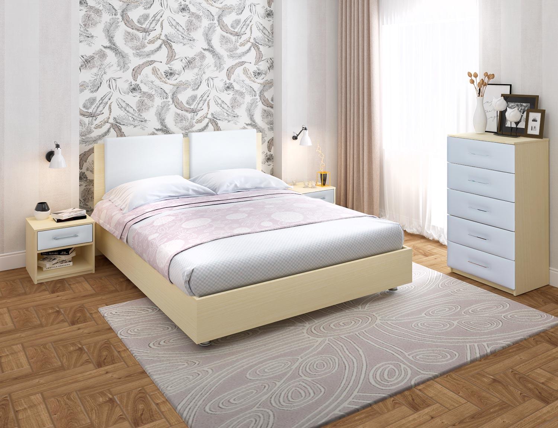 Кровать Китон 2 Ренли с матрасом Soft Combi в Казахстане